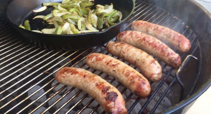 ZESTY Chorizo Style Pork Sausage Large Griller Links, No Sugar - Circle C Farm