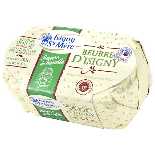 French Butter from Isigny AOC -SALTED - Bar 8.8 oz - Circle C Farm
