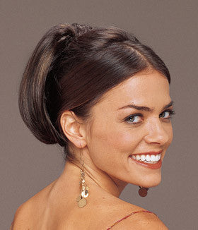 hairpiece clip on slide on comb clip pony tail extension straight