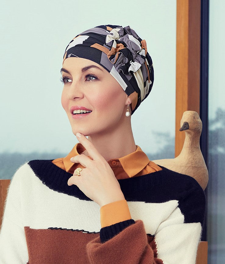 Lotus Turban - Printed (1008-0671)