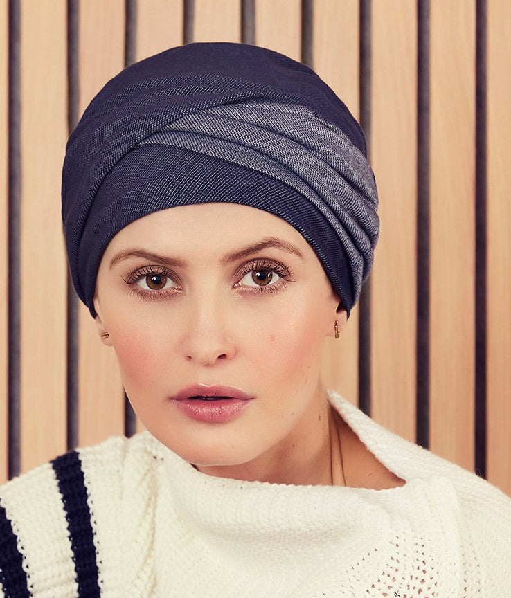 Emmy V Turban - Denim (1464-0662)