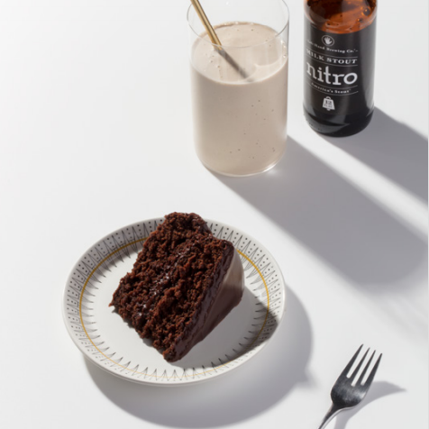 Chocolate Devil's Food Cake with Mini Stout Milkshakes