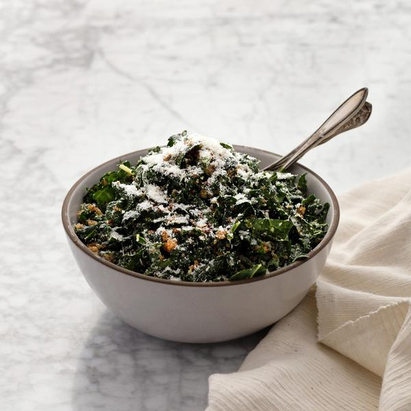 Kale Caesar with Toasted Breadcrumbs