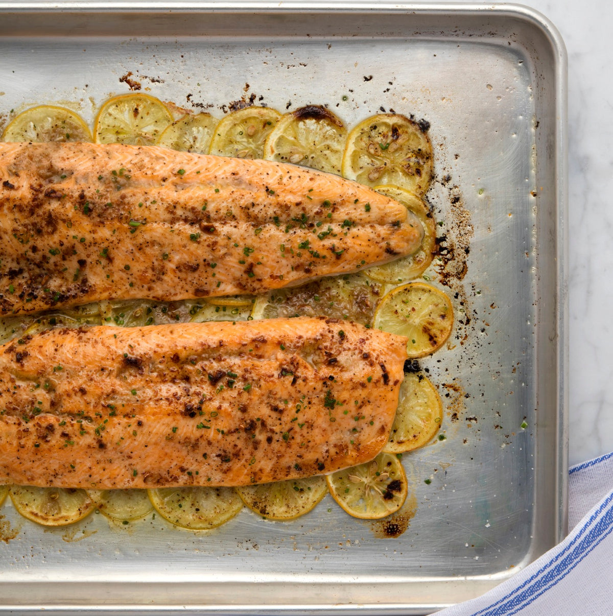 Arctic Char with Crispy Lemons and Anchovy Butter