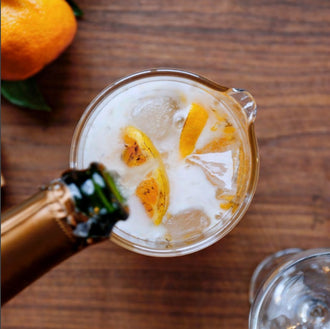 Burnt Satsuma Champagne Punch