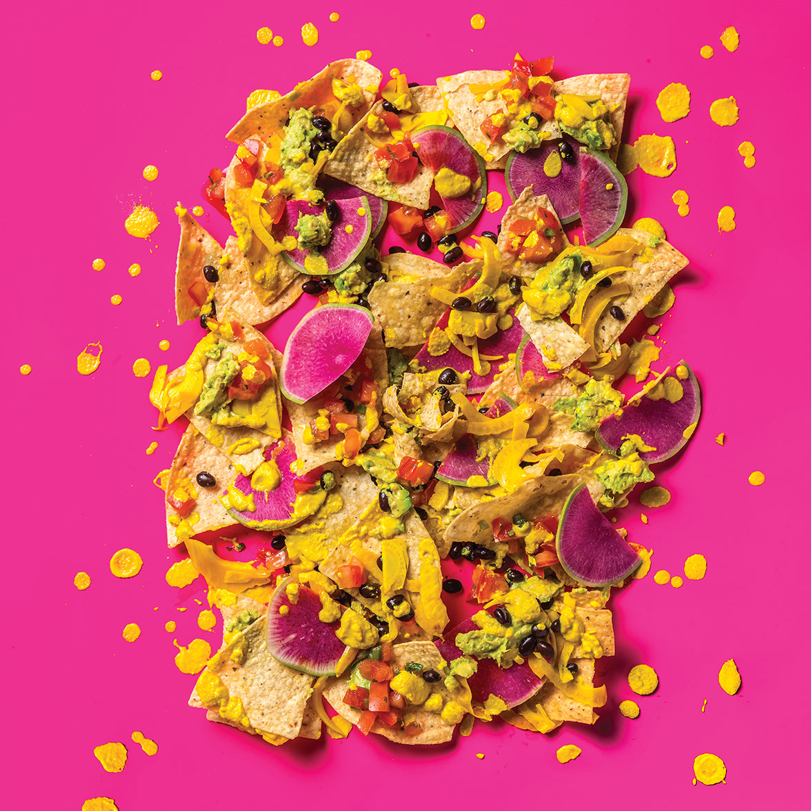Vegan Nachos with Pickled Fennel and Cashew Queso