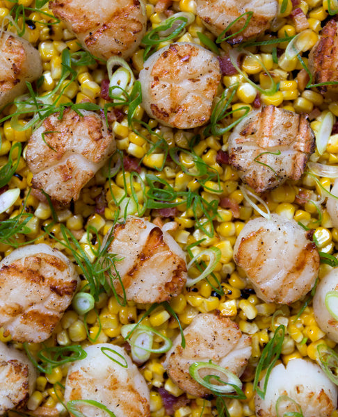 scallops with corn