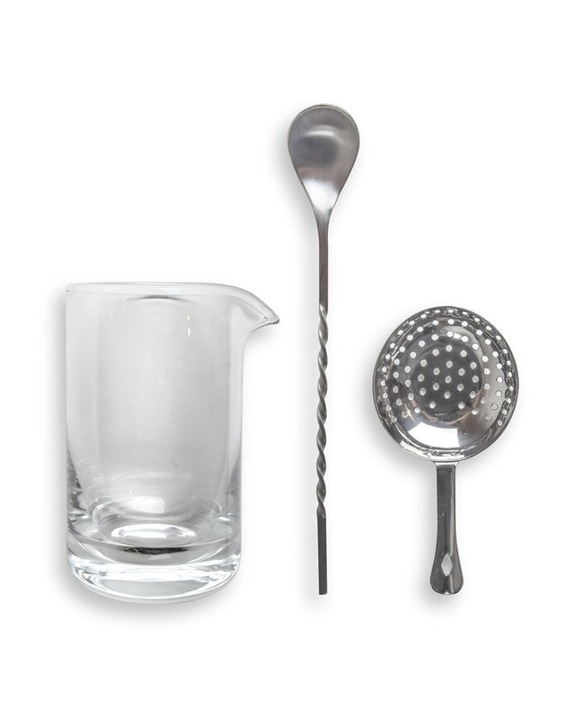Mixing Glass Kit (Incl. Bar Spoon and Strainer)