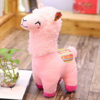 Short Plush Cartoon Alpaca Soft Kawaii Alpaca Toy Cute Animal Llama