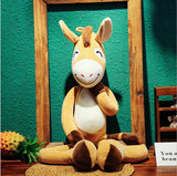 Naughty Donkey Plush Toys Soft Stuffed Animal Doll Pillow for Baby