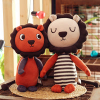 Lovely Soft Creative Stuffed Lion Toy Kids Favor Plush Animal Doll