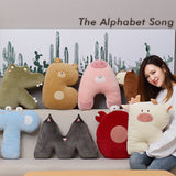Super Cute Letter Shape Plush Animal Toys Kids Soft Bear Plush Pillow