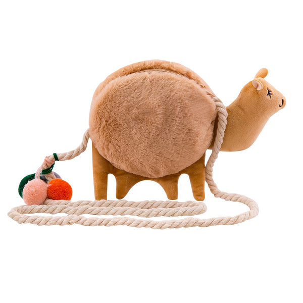 Cute Cartoons Plush Camel Bag Stuffed Animal Llama Toy for Girl Kids