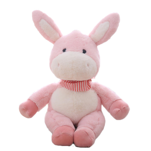 Cute Plush Donkey with Gasbag Doll Soft Stuffed Animal Toy for Kids