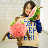 Creative Stuffed Cartoon Fruit Pillow Soft Cute Plush Watermelon Toy
