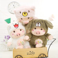 Super Lovely Stuffed Pig with Hat Doll Animal Plush Toy for Kids