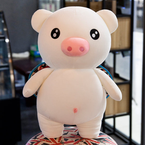 Super Cute Pink Pig Plush Toy Cartoon Stuffed Animal Doll Kids Gifts