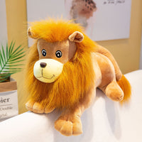 Soft Little Plush Lion Toy Fluffy Stuffed Doll Kids Animal Cute Pillow