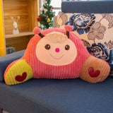 Cartoon Monkey Bear Plush Waist Pillow Cute Stuffed Animal Cushion