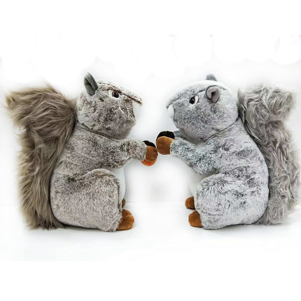 Realistic Stuffed Squirrel Toy Plush Animal Doll Kids Birthday Gifts