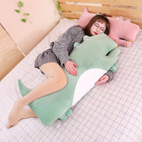 Cute Crocodile Plush Toy Cartoon Animal Stuffed Pillow Kids Gift