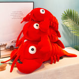 Lobster Plush Toy Stuffed Marine Animal Pillow Creative Soft Kid Toys