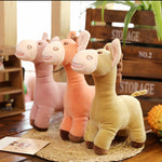 Creative Stuffed Cartoon Donkey Toy Super Cute Plush Animal Doll