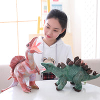 Soft Triceratops Plush Pink Dinosaur Toy Stuffed Animal Gifts for Kids