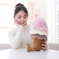 Lovely Cartoon Plush Ice Cream Toy Kids Pillow Stuffed Food Doll