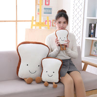 Soft Toast Shape Plush Toy Girls Gifts Cute Bread Food Stuffed Cushion