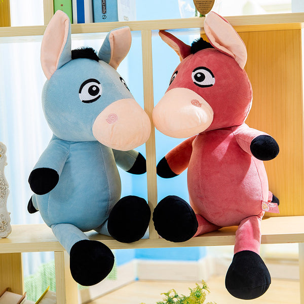 Cute Stuffed Donkey Toys Cartoon Plush Animal Pillow Birthday Gifts