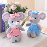 Lovely Simulation Mouse Plush Doll Soft Stuffed Animal Toy for Baby