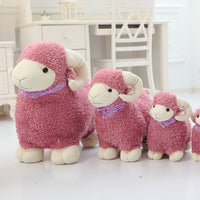 Sheep Stuffed Animals Cute Lamb Plush Toy with Shiny Scarf Baby Gift