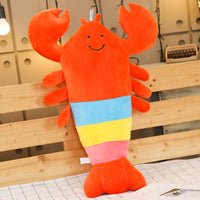 Soft Cute Stuffed Lobster Toy Kids Pillow Christmas Gift Plush Doll