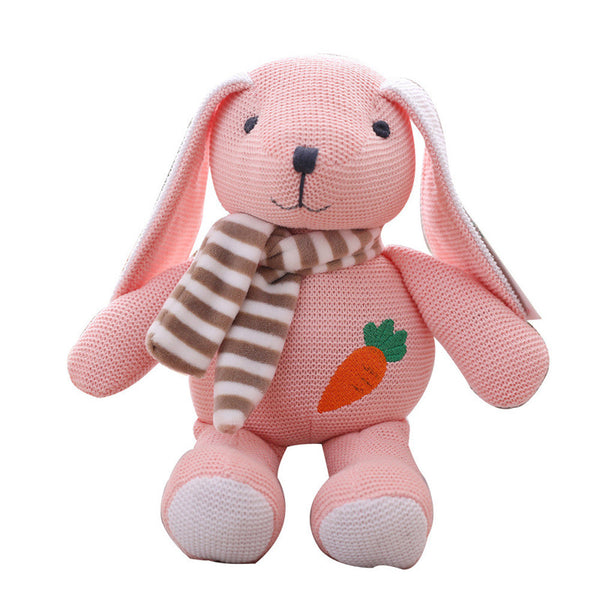 Soft Cute Knitted Rabbit Bear Dog Plush Toy Stuffed Animal Baby Gift