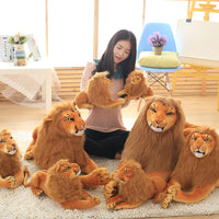 Simulation Stuffed Lion Toy Soft Plush Cougar Pillow Kids Animal Doll