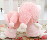 Pink Hat My Melody Cute Bunny Plush Toys Soft Stuffed Animal Doll Toy