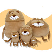 Soft Cute Plush Round Lion Pillow Stuffed Cartoon Animal Kids Gifts