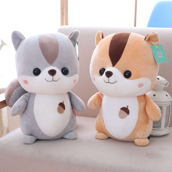 Cute Cartoon Squirrel Plush Toy Soft Stuffed Animal Doll for Kids
