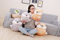 Cute Evil Doge Plush Toys Cartoon Stuffed Animal Emoji Dog Doll Pillow