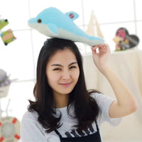 Luminous Plush Dolphin Doll Glowing LED Light Animal Plush Toys