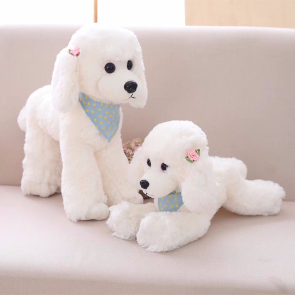 Soft Poodle Dog Plush Toys Cartoon Animal Teddy Dog Toys Doll for Kids