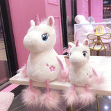 Soft Stuffed Kawaii Unicorn Plush Toys with Long Tail Pink Unicorn Animal Doll