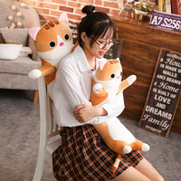 Long Cat Pillow Plush Toy Soft Cushion Stuffed Animal Cat Doll