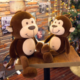 Brown Monkey Plush Toy Soft Stuffed Big Monkey Animal Dolls