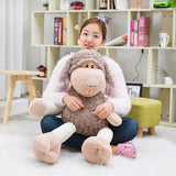 Soft Bow Sheep Plush Toy Stuffed Animal Lamb Doll