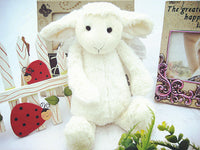 Kids Birthday Gifts White Color Plush Sheep Doll Soft Stuffed Pillow