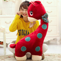 Super Cute Lovely Giraffe with Bow Plush Toy Kids Favor Stuffed Pillow