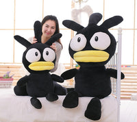 Giant Cartoon Stuffed Lovely Black Chicken Doll Plush Animal Toy