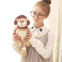 Lovely Stuffed Sitting Lion Doll Kids Gift Super Cute Animal Plush Toy